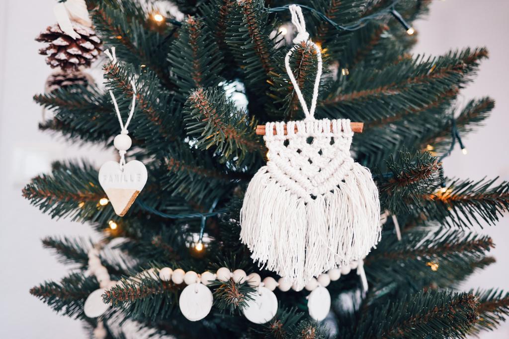 Macramé,Noël,Fanion