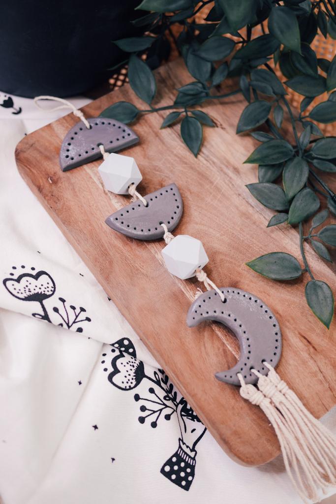 Lune,Décoration,Pâte auto-durcissante,Do it yourself,DIY