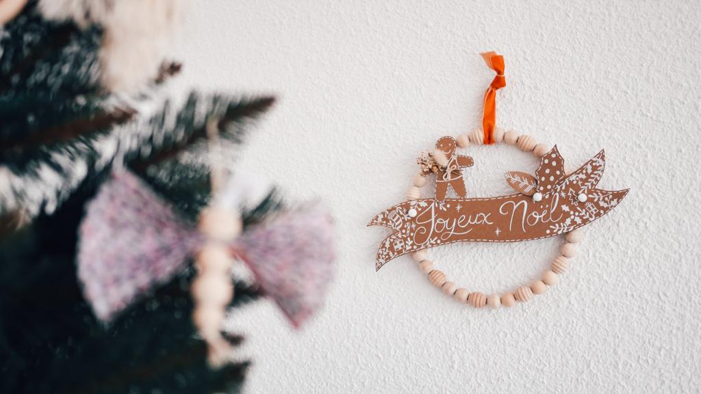 Couronne de Noël,DIY,Perles
