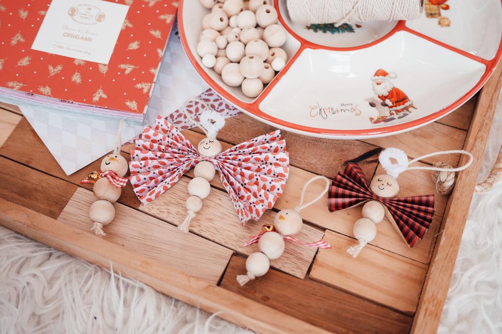 DIY,Noël,Perles en bois