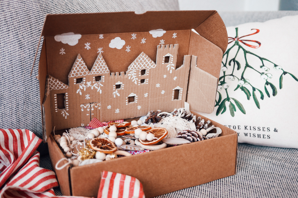 Upcycling,Boite à souvenirs,Noël,DIY